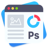 Templates for Photoshop by GN (AppStore Link)