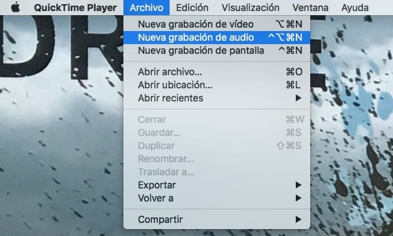 Usar quicktime para grabar audio en OS X