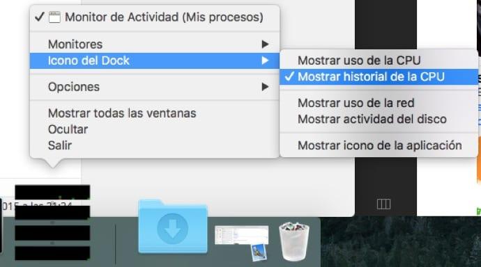 Icono del monitor de actividad