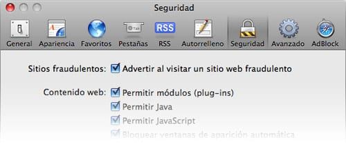 protección anti-phishing de Safari 3.2