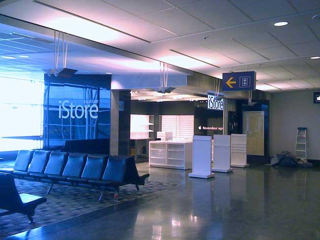 Tienda Apple en un aeropuerto