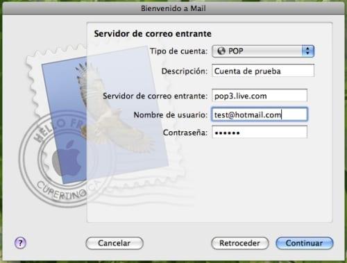 Configuración de Mail.app