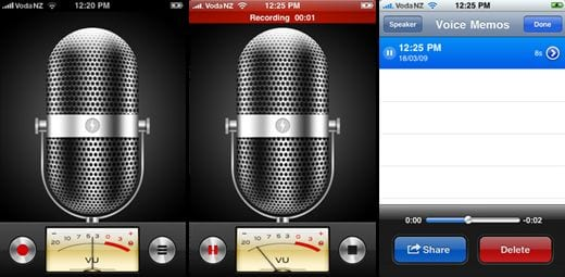 Voice Memo para iPod Touch y iPhone