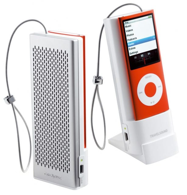 Altavoces Travel Sound para iPod Nano
