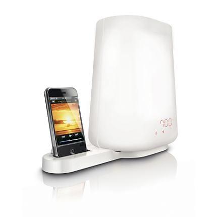 Despertador de luz Philips compatible con iPhone y iPod