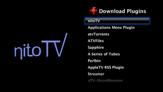 Plugin NitoTV para Apple TV