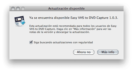 Actualización para Roxio Easy VHS to DVD for Mac
