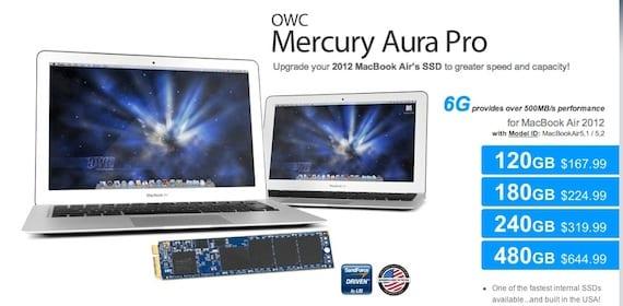 OWC SSD para el MacBook Air 2012