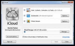 iCloud Control Panel 2.1.1