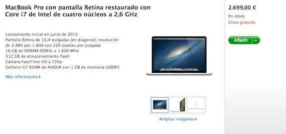 MacBook Pro Retina Refurbished