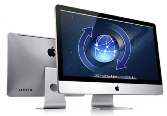 Nuevos iMac con símbolo de actualización