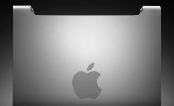 Vista lateral del Mac Pro