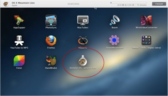 PANTALLA INSTALADOR MOUNTAIN LION