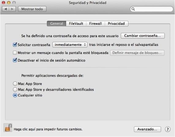 Ventana de Gatekeeper desbloqueada. Seguridad en OSX.