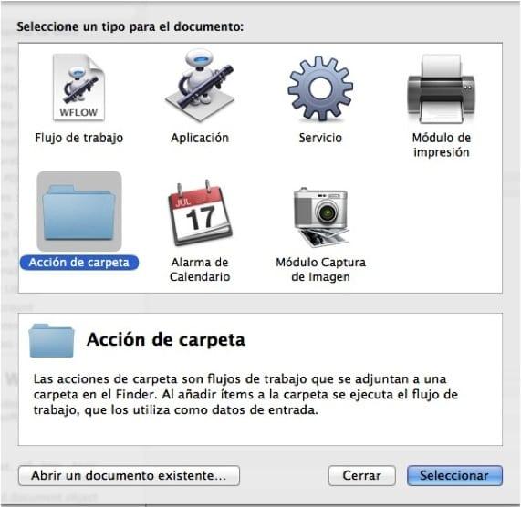 ACCION DE CARPETA AUTOMATOR. Imprime