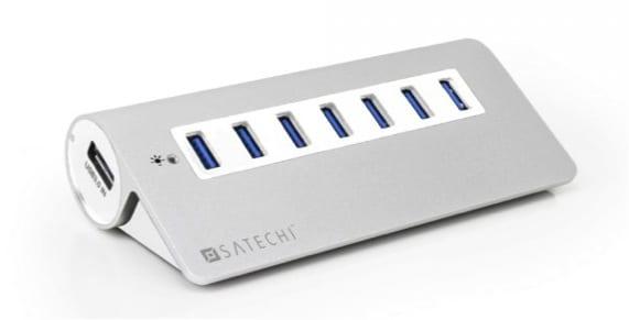 HUB 7 PUERTOS USB 3.0 BLANCO