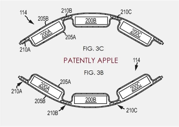 BATERÍA DE APPLE FLEXIBLE PATENTE