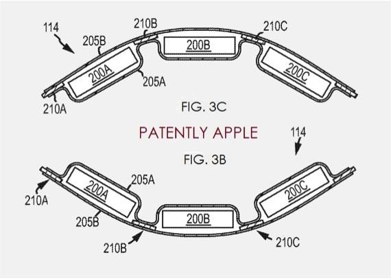Mira el aspecto de las posibles baterías flexibles de Apple