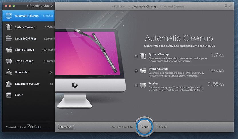 CleanMyMac01 Las mejores aplicaciones para Mac OS X
