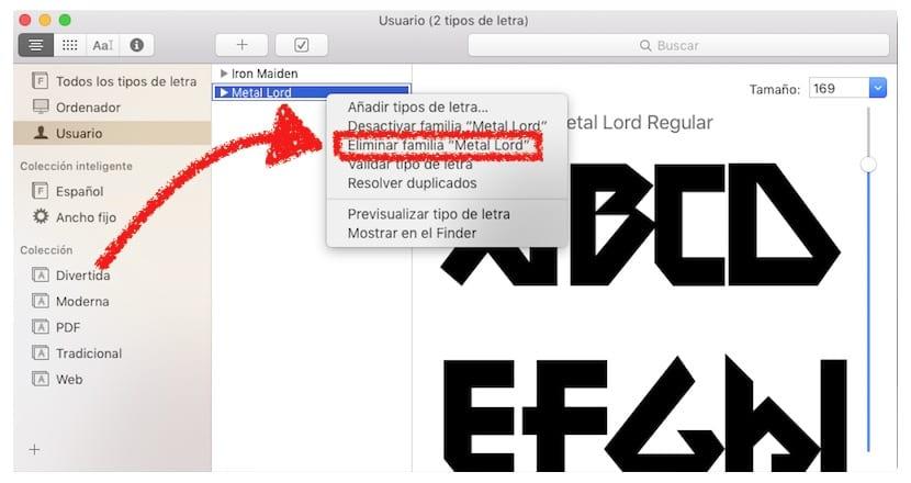 Como eliminar una fuente en OS X