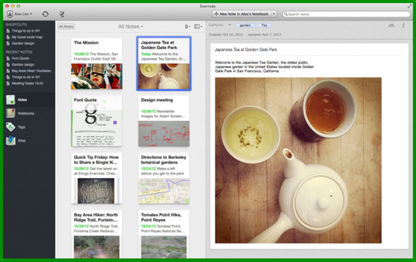 Evernote 600x379 Las mejores aplicaciones para Mac OS X