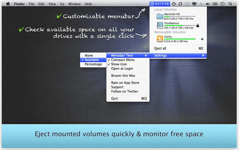 FreeSpace Tab Las mejores aplicaciones para Mac OS X
