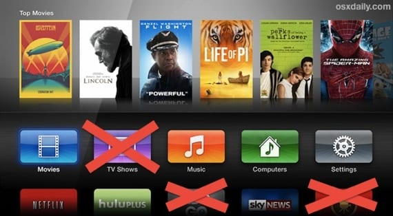 Como 'eliminar' aplicaciones que no usamos del Apple Tv