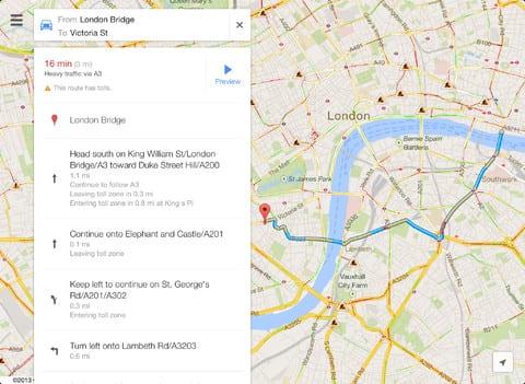 googlemapsipad 1 Google maps se renueva en su nueva actualización