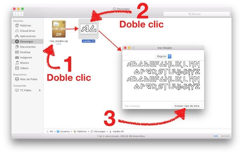 Instalando fuentes en OS X