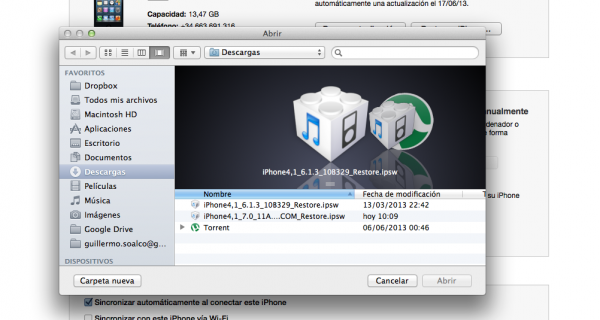 recuperacion firmware 600x320 Tutorial: Downgrade iOS 7 a iOS 6.1.3   6.1.4
