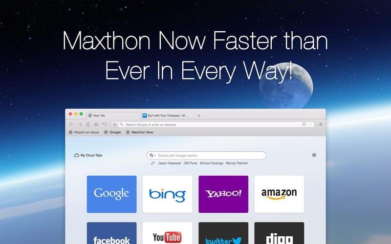 Navegador Maxthon para Mac