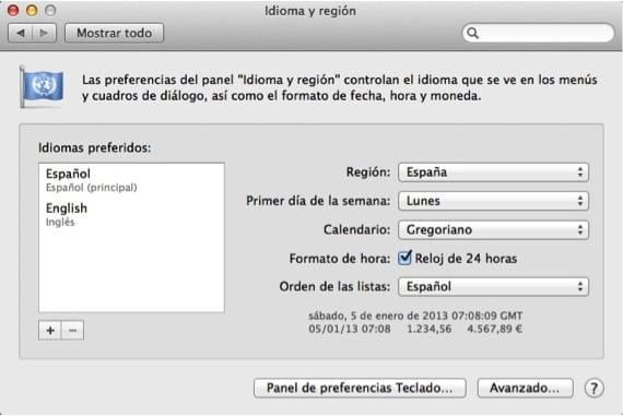 IDIOMAS EN MAC