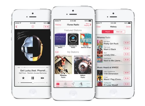 iTunes Radio en iPhone