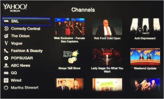 CANAL YAHOO APPLE TV