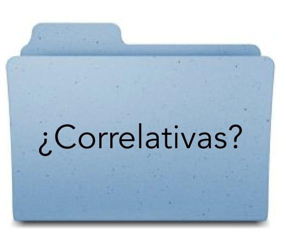 CARPETA CORRELATIVA. CORRELATIVOS