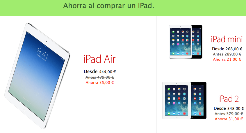 Descuentos Black Friday en iPad