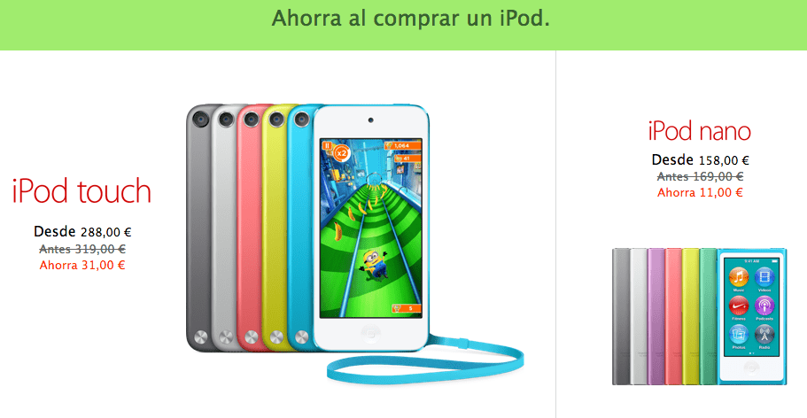 Descuentos Black Friday en iPod