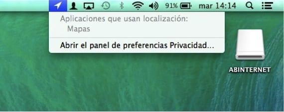 PREFERENCIAS PRIVACIDAD FLECHITA
