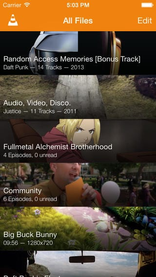 VLC en iPhone