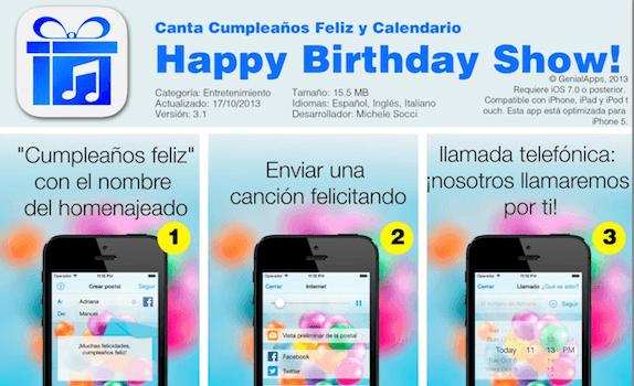 Canta Cumpleaños Feliz y Calendario ya en App Store para iPhone