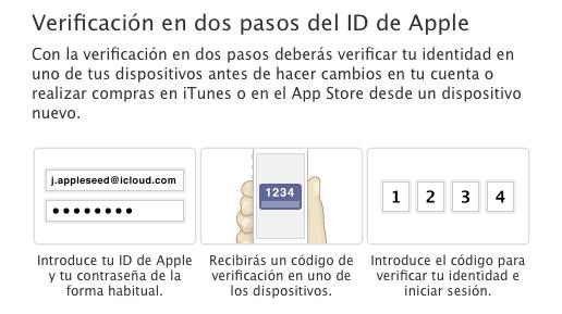 Verificación en dos pasos del Apple ID