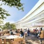 Campus de Apple. Cafeterías exteriores