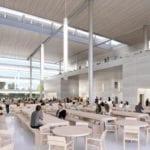 Campus de Apple. Cafeterías interiores.