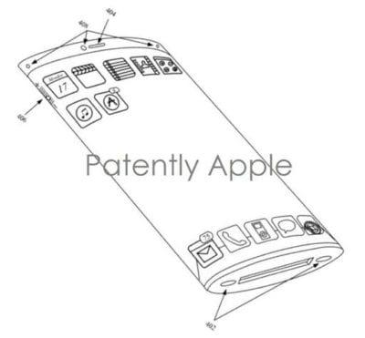 Modelo de pantalla curva patentado por Apple