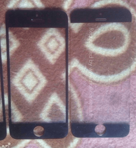Pantalla del iPhone 5S vs supuesta pantalla del iPhone 6
