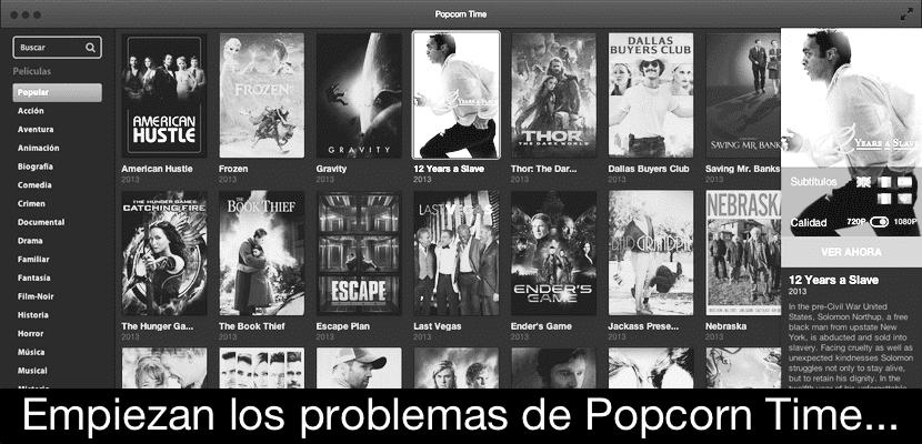 problemas popcorn time