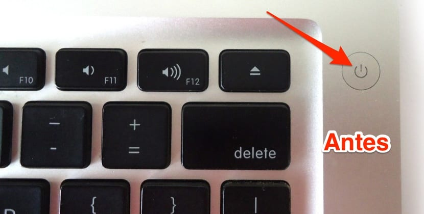Botón encendido antes