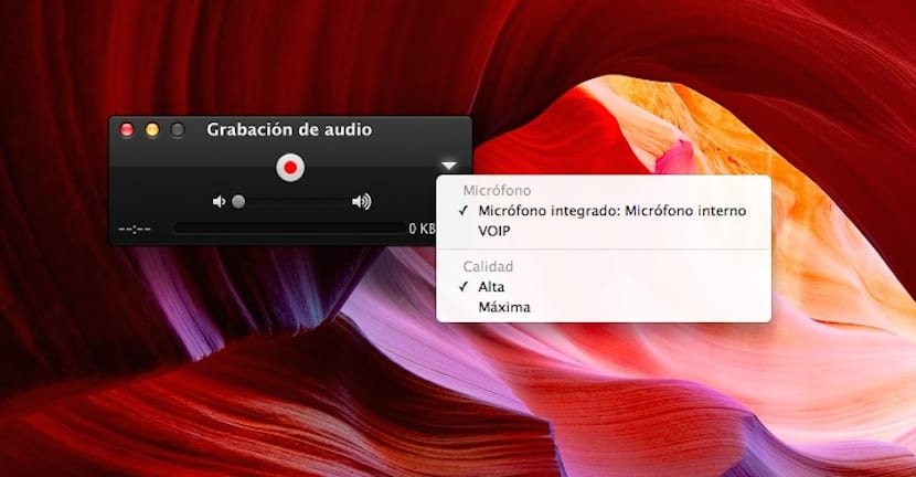 Capltura ventana Quicktime Player