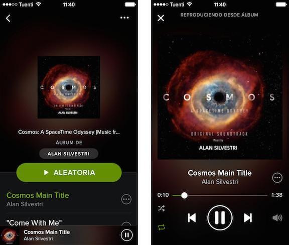 Diseño Spotify en iOS