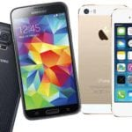 Galaxy S5 iPhone 5S 150x150 Curiosidades : iPhone 4S vs Samsung Galaxy S3 vs HTC One X